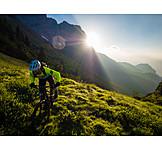 Extreme Sports, Up, Mountain Biker