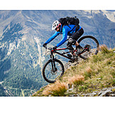 Extremsport, Mountainbike, Mountainbikefahrer