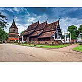 Tempel, Buddhismus, Chedi, Wat Lok Moli