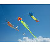 Diver, Jellyfish, Windsocks
