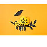 Kürbis, Halloween, Bastelarbeit