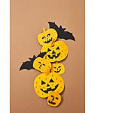 Kürbis, Halloween, Fledermaus