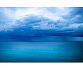 Meer, Regenwolken