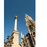 Munich, Marie Pillar, Marienplatz