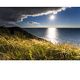 Sun, Baltic Sea, Baltic Sea Coast