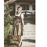 Woman, Bavarian, Traditional clothing
