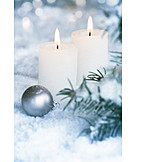 Snow, Candlelight, Candles
