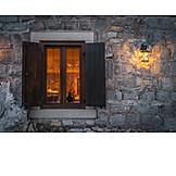 Gemütlich, Lokal, Bleiglasfenster