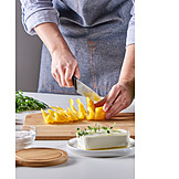Vegetable, Cutting, Preparation