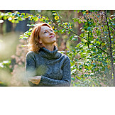Frau, Natur, Entspannung