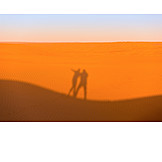 Desert, Sandy Desert, Love Couple, Shadow