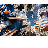 Cooking, Campfire, Outdoor