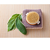 Schönheitspflege, Massagebürste, Körperpeeling