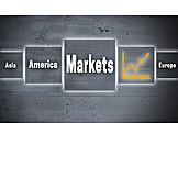 Markt, Börsenhandel, Weltmarkt