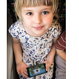 Girl, Playing, Video game, Childproof