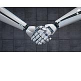 Teamarbeit, Roboter, Ai