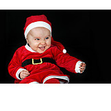 Baby, Laughing, Santa Claus