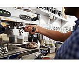 Zubereiten, Espressomaschine, Barista
