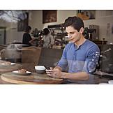 Mobile Kommunikation, Café, Smartphone