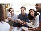 Café, Treffen, Freunde