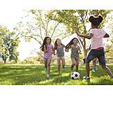 Fußball, Spielen, Freundinnen