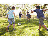 Soccer, Playing, Friends
