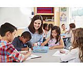 Malen, Kinder, Kindergarten, Kindergärtnerin
