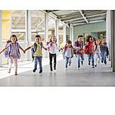 Rennen, Hand Halten, Grundschüler