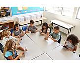 Bildung, Schulklasse, Tablet-pc