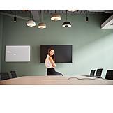 Business Woman, Waiting, Presentation