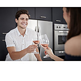 Home, Love Couple, Toast, Date