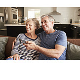 Domestic Life, Watching Tv, Couple