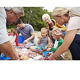 Essen, Picknick, Familienausflug