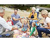 Sommer, Picknick, Familienausflug