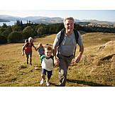 Hiking, Grandparent, Grandchildren