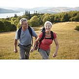 Active Seniors, Hike, Older Couple