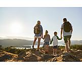 Berge, Wandern, Familienausflug