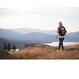 Woman, Hiking