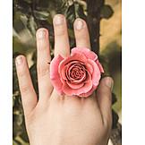 Hand, Rose Petals