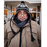 Man, Winter Clothing, Crabby