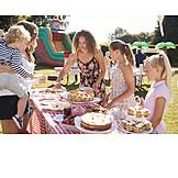 Cake, Children Birthday, Buffet, Cutting