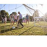 Fußball, Spielen, Familienfeier