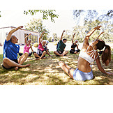 Yoga, Stretching, Sports Group