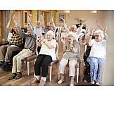 Senioren, Altenheim, Gymnastik