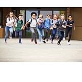 Running, School Children, School Finish