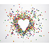 Heart, Confetti