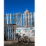 Bicycle, Timber Fence