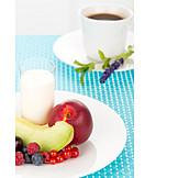 Süß, Frühstück, Obstteller