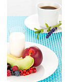 Sweet, Breakfast, Fruit Plate