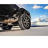 Geländewagen, Reifenprofil, Winterreifen